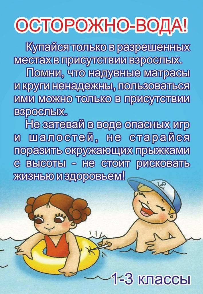 Осторожно на воде для детского сада картинки